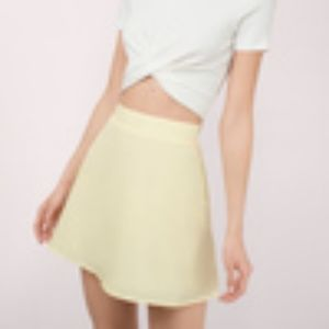 Tobi Yellow Around-The-Globe Skirt